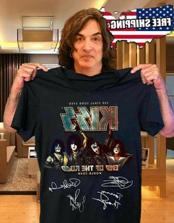 Black  Black Official KISS Band T-Shirt End of the Road Fare