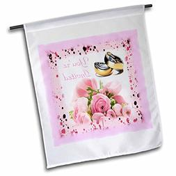 3dRose Print of Wedding Bands Roses & Youre Invited - Garden