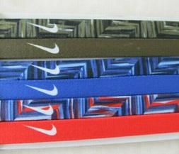 Nike Printed Headbands Assorted 6 Pack Multi-Color
