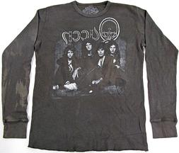 QUEEN Rock Band Bleached Thermal Long Sleeve T-shirt Adult T