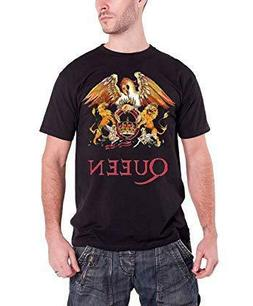 Queen T Shirt Classic Crest Band Logo Freddie Mercury Mens B