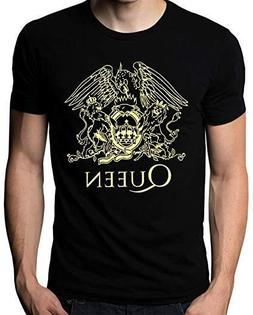 Queen T-Shirts Band Rock Music Logo Men's Black Unisex Size