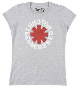 RED HOT CHILI PEPPERS BAND T-SHIRT WOMENS RHCP MUSIC TEE GRE