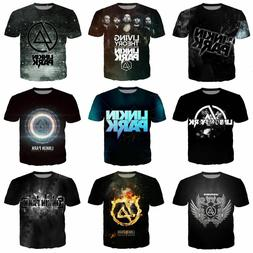 Rock band Linkin Park 3D Print Women/men Casual Short Sleeve