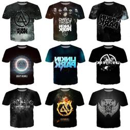 Rock band Linkin Park 3D Print Women/men Casual  Short Sleev