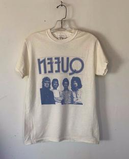 Queen Rock Band Music T Shirt Vintage White New