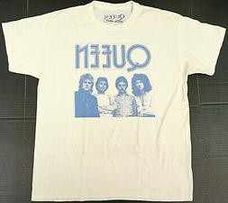 QUEEN Rock Band T-shirt Distressed Licensed Tee Adult LARGE