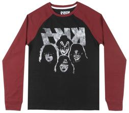 KISS ROCK BAND THERMAL LONG SLEEVE SHIRT MENS PULLOVER MUSIC