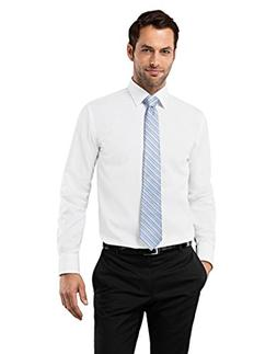 Vincenzo Boretti Men's Shirt Regular-fit Non-Iron uni White