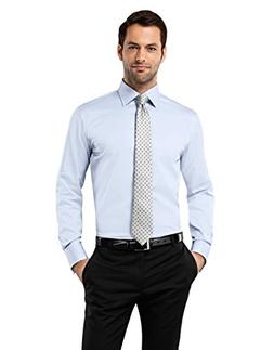 Vincenzo Boretti Men's Shirt Slim-fit Double Cuff uni Non-ir