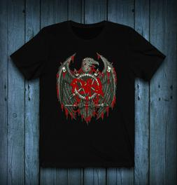 slayer logo band T-Shirt Tee exclusive 100% Cotton