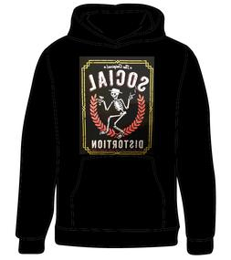 SOCIAL DISTORTION PUNK ROCK BAND MEN'S HOODIE BLACK YOUTH S-