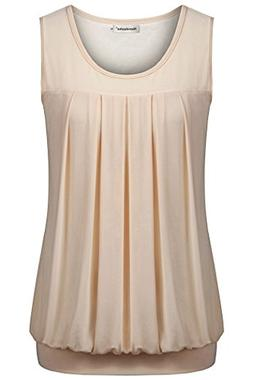 Nandashe Summer Tunic Tanks, Nice Elegant Retro Stylish O-Ne