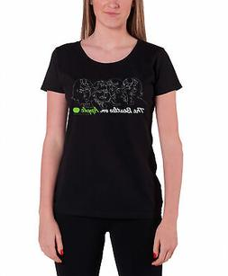 The Beatles T Shirt band logo On Apple Official Womens New B