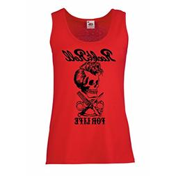 lepni.me Womens Tank Tops Rock and Roll for Life - 1960s,197