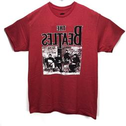 The Beatles Band Men's Graphic T-Shirt New Red Heather