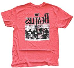The Beatles Band Red Heather Men's Graphic T-Shirt New
