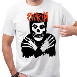 The Misfits Horror Punk Rock Band  Skull Distressed T-shirt