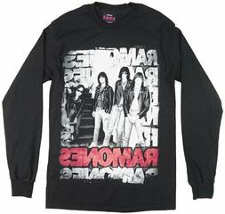 THE RAMONES PUNK BAND LONG SLEEVE SHIRT MENS BLACK GRUNGE RO