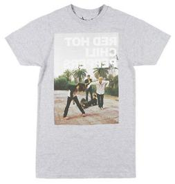 THE RED HOT CHILI PEPPERS BAND T-SHIRT MENS HEATHER GREY ROC