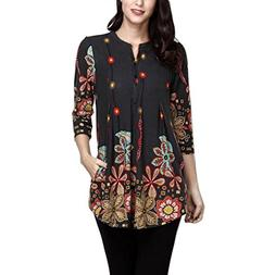 POHOK,HOT!Women Ladies Three Quarter Sleeve Printing Cas