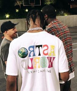 TRAVIS SCOTT ASTROWORLD T-SHIRT cactus jack jordan tour supr