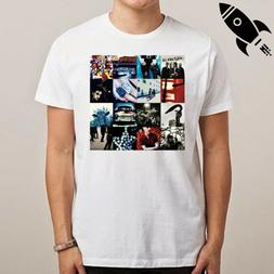 U2 ACHTUNG BABY ROCK BAND LEGEND MEN'S WHITE T-SHIRT SIZE S