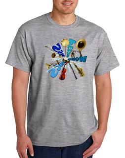 USA Made Bayside T-shirt Music Marching Band Percussion Inst