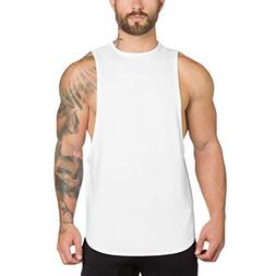 YOcheerful Men Vest Sleeveless Tank Top Knit Muscle Shirt Te
