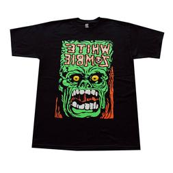White ZOMBIE Punk Rock Band  Men's T-Shirt Black