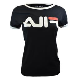 FILA Women's T-shirt - Ringer Tee-Athletic Active- Missy- BL