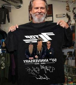 ZZ TOP BAND 50 YEARS ANNIVERSARY T-SHIRT